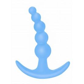 Голубая анальная пробка Bubbles Anal Plug - 11,5 см.